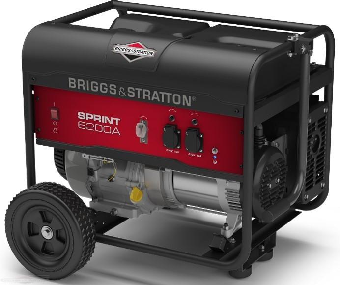 Генератор бензиновый Briggs & Stratton Sprint 6200A (6,125 кВа)