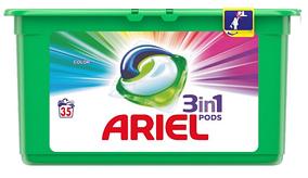"""Капсулы для стирки Ariel Pods 3 в 1 """"Color"""" (35шт.)"""