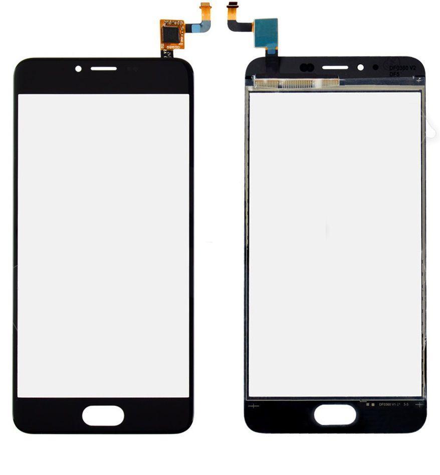 Сенсор (тачскрин) для телефона Meizu M5 M611, M5 mini Black