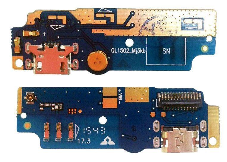 Шлейф Asus ZenFone Max (ZC550KL) нижня плата c роз'ємом зарядки і мікрофоном