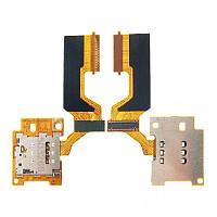 Шлейф HTC One M9 з роз'ємом для SIM-карти