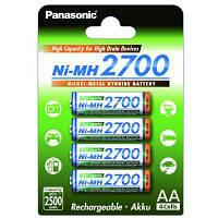 Акумулятор Panasonic AA (R6) High Capacity 2700mAh 4шт (BK-3HGAE/4BE)