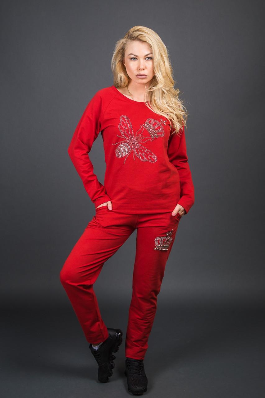 Модний костюм з принтом бджілки і корони ZAVA - червоний колір, S (є розміри)