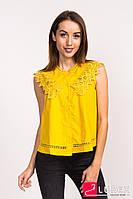 Блузка с рюшами LUREX - горчичный цвет, L (есть размеры)