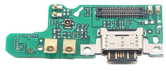 Нижняя плата Nokia 7 с разъемом зарядки и микрофоном