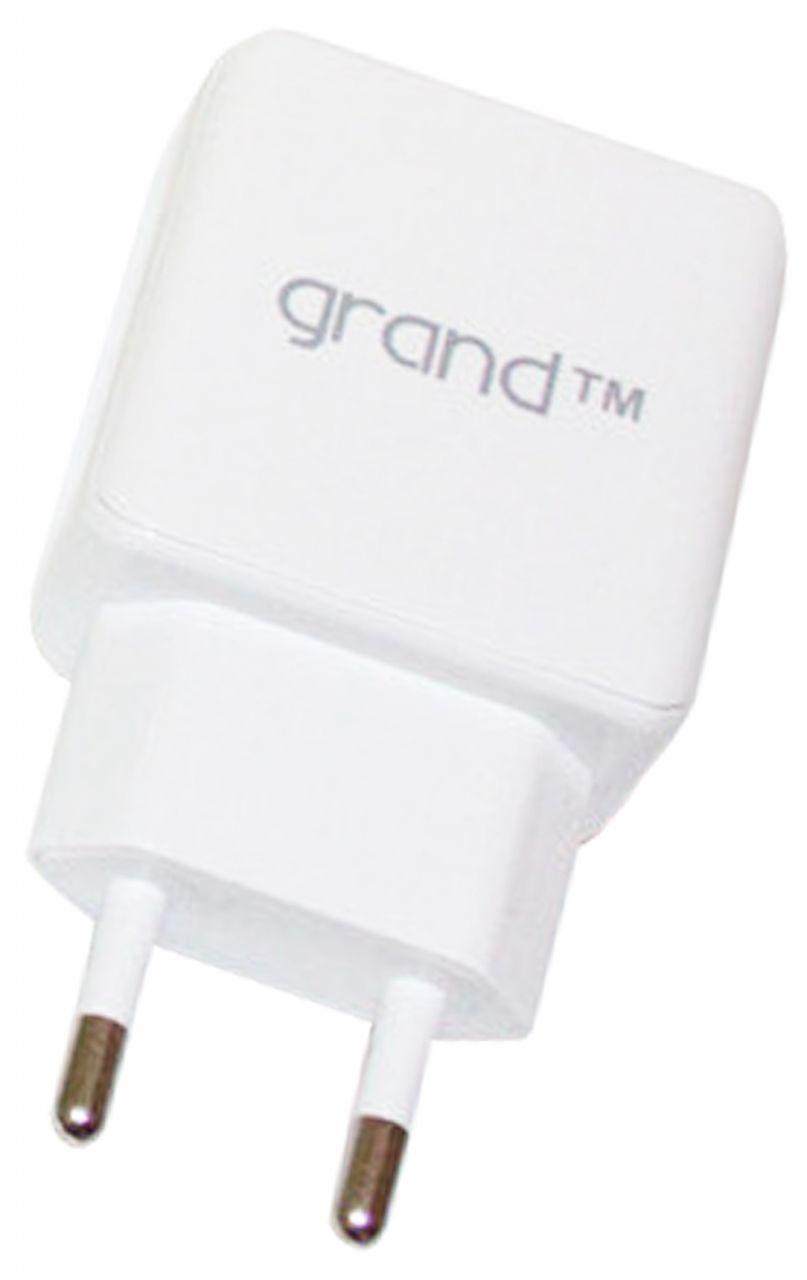 Сетевое зарядное устройство  Grand 2 USB 2.1A White (GH-C01)