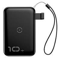 Зовнішній акумулятор Baseus Mini S Bracket Wireless 10000 mAh Black (PPXFF10W-01)