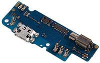 Шлейф Asus ZenFone 3s Max нижня плата з роз'ємом зарядки вібродзвінком і мікрофоном