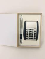 Подарунковий Набір 2 В 1 Ручка І Калькулятор У Футлярі Ручка З Калькулятором Набір