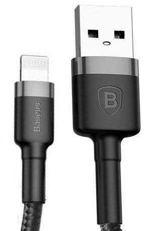 Купить Техника и электроника, Кабель USB Baseus Kevlar Lightning Cable 0.5m Gray/Black (CALKLF-AG1)