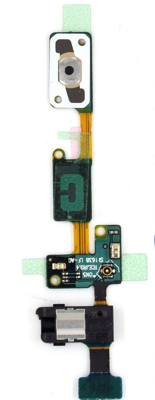 Шлейф Samsung Galaxy J5 Prime G570F с кнопкой Home и разъемом гарнитуры