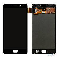 Дисплей (экран) для телефона Lenovo P2 Vibe P2a42, P2 Vibe P2c72 + Touchscreen with frame (TFT, copy) Black