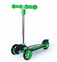 Самокат детский трехколесный  Зеленый  ОРИОН