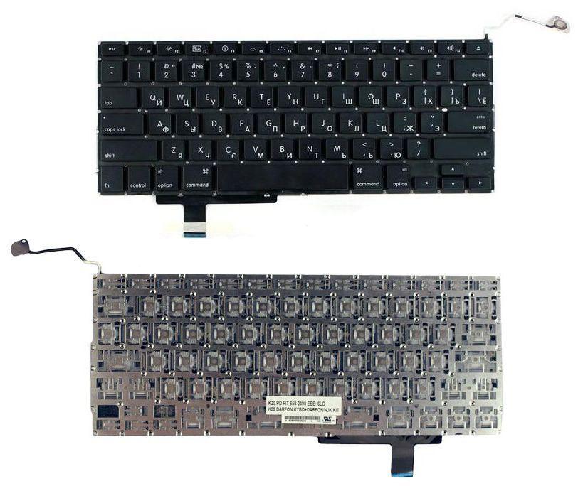 Клавіатура для ноутбука Apple MacBook Pro A1297 з підсвічуванням (Light) без рамки горизонтальний ентер