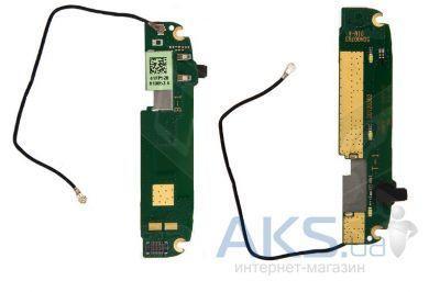 Шлейф HTC T328w Desire V с подсветкой кнопок и микрофоном