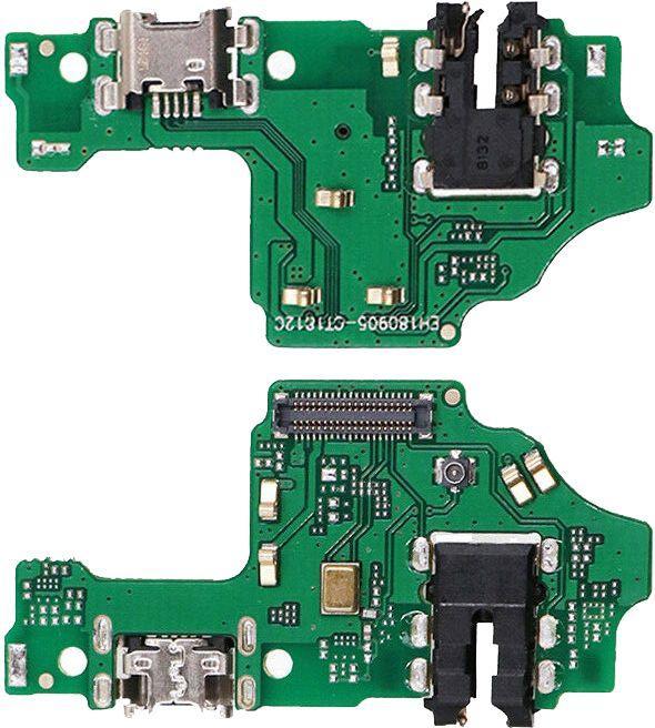 Нижняя плата Huawei Honor 8X с разъемом зарядки, наушников и микрофоном