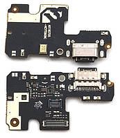 Нижняя плата Xiaomi Mi A3 с разъемом зарядки и микрофоном