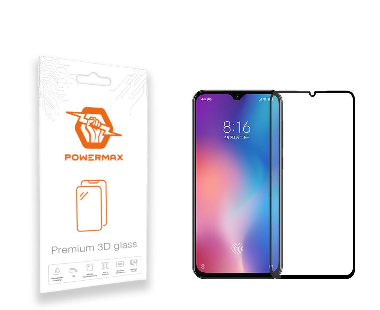 Защитное стекло Powermax 3D Premium Xiaomi Mi 9 SE Black (PWRMX3DXM9SB)