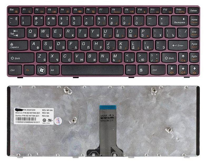 Клавіатура для ноутбука Lenovo V370 Black