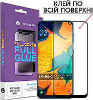 Защитное стекло MakeFuture Full Cover Full Glue Samsung Galaxy A20, A30, A30s, A50, A50s Black (MGF-SA30/A50)