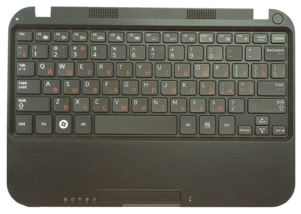 Клавиатура для ноутбука Samsung NS310 с топ панелью черная