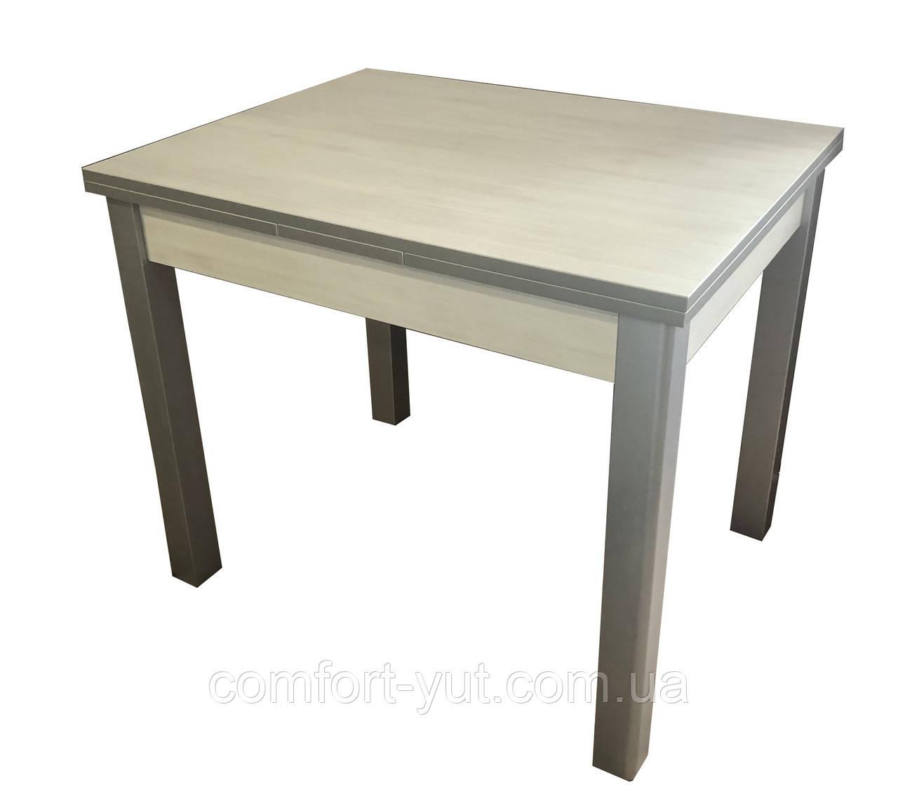 Стол обеденный Марсель 90(+35+35)*70  серый - Белое дерево