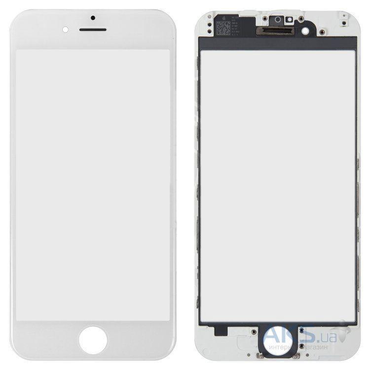 Корпусное стекло дисплея Apple iPhone 6 белый, оригинал, OCA пленка, рамка