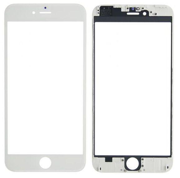 Корпусное стекло дисплея Apple iPhone 6 Plus (с OCA пленкой) with frame (original) White