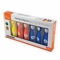 Игровой набор Viga Toys 2-в-1 Боулинг и кольцо (50665)