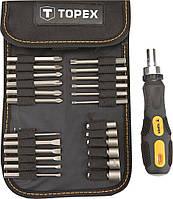 Набор TOPEX: насалдки и сменные головки с держателем, 26 ед.