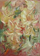 Абстрактная картина цветов (картина для декора кухни)