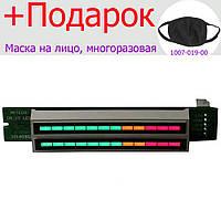 Индикатор уровня стерео аудио сигнала 12 уровней