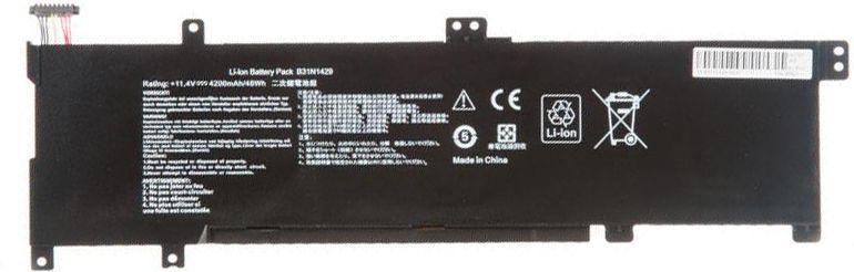 Аккумулятор для ноутбука Asus B31N1429-3S1P / 11,4V 4200mAh
