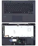 Клавіатура для ноутбука Sony Vaio VPC-SB з топ панеллю Black
