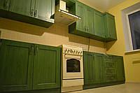 Кухни под заказ с патиной из массива