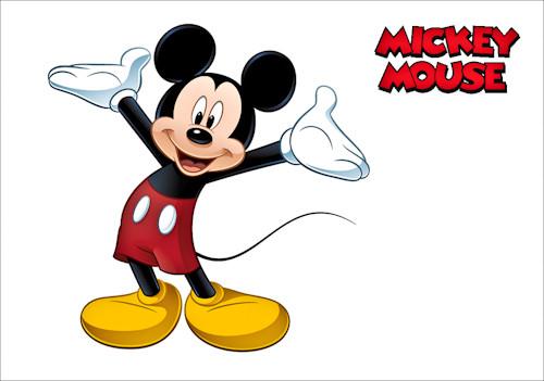 Магнит сувенирный 65х95мм Микки Маус