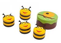 Мягкий модульный Набор детской мебели Пчелка: столик и 4 пуфика-стула для дома, игровых центров, детсадов