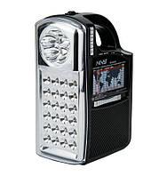 Радиоприемник портативный с фонарем NS-040U Черный