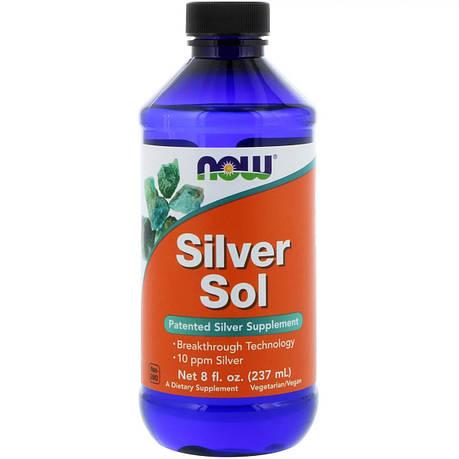 Коллоидное Серебро, Now Foods, Silver Sol, 8 жидких унций (237 мл), фото 2