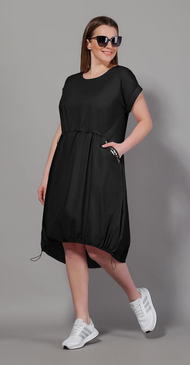 Платье Сч@стье-7057-1 белорусский трикотаж, черный, 42