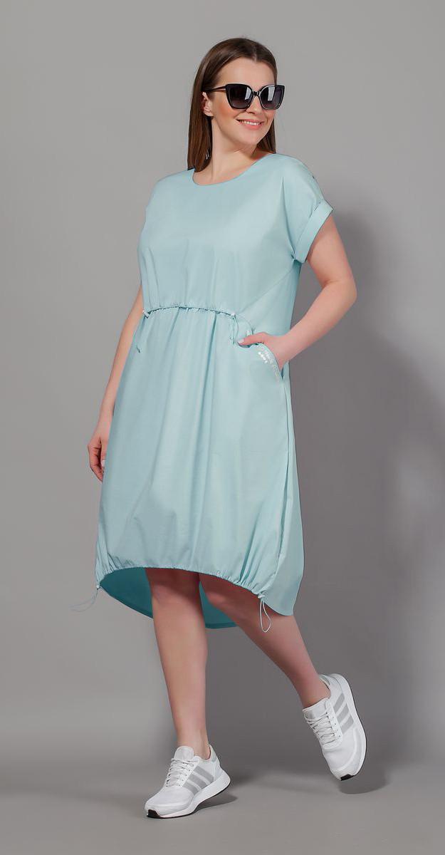 Платье Сч@стье-7057-5 белорусский трикотаж, голубое, 42