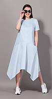 Платье Сч@стье-7064-5 белорусский трикотаж, голубой, 42