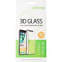 Защитное стекло 3D Samsung A405 (A40) Black Optima