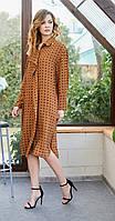 Платье Fantazia Mod-3677 белорусский трикотаж, рыжий, 48, фото 1