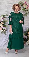 Платье Ninele-5781/1 белорусский трикотаж, изумруд, 54