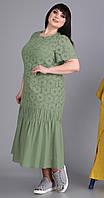 Платье Novella Sharm-3525-4 белорусский трикотаж, хаки, 60