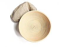 Форма корзинка для расстойки хлеба из ротанга на 0,75кг с чехлом. Расстоечные корзинки для теста