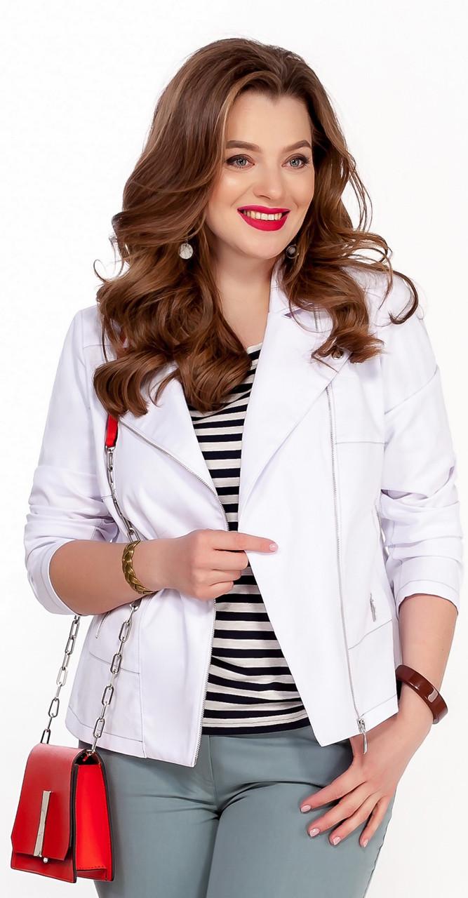 Куртка TEZA-1238 белорусский трикотаж, белый, 48