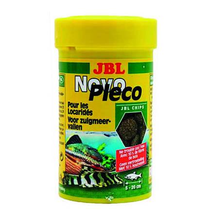 Основной корм JBL NovoPleco для небольших и средних кольчужных сомов, 100 мл, фото 2