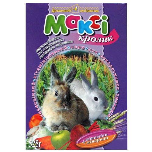 Макси корм кролик, 525 г + мелок